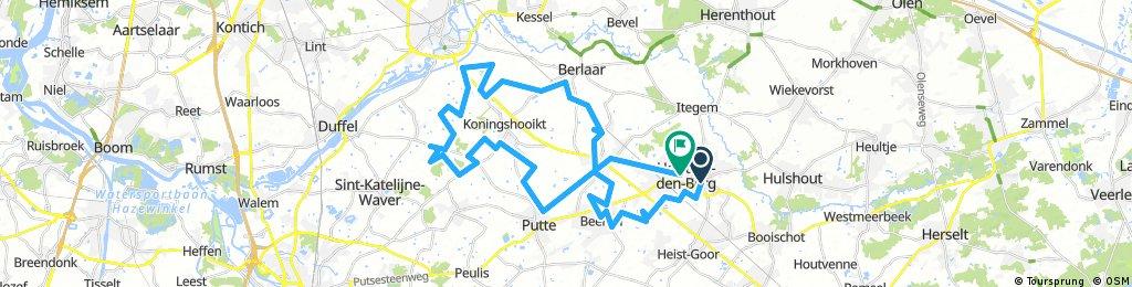 Long ride through Heist-op-den-Berg