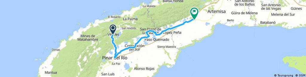 Cuba Etapa 3 Viñales -Candelaria 131 Km  490m