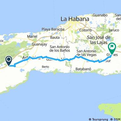 Cuba Etapa 4 Las Candelarias - Guines 116Km 130m