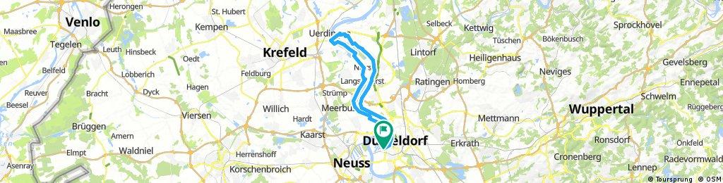 Radrunde bis Krefeld