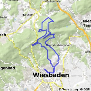 Cycling routes and bike maps in and around Wiesbaden Bikemap