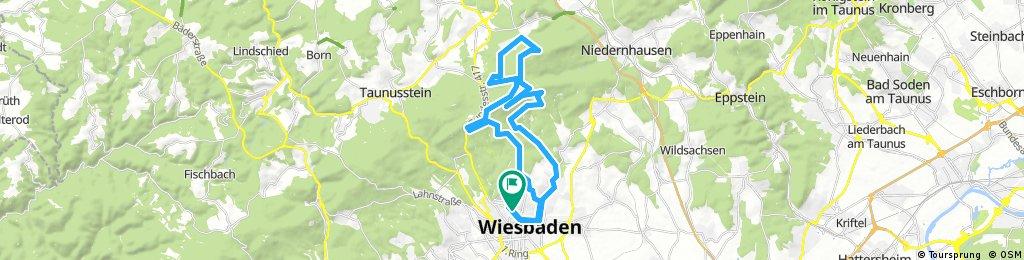 Lange Radrunde durch Wiesbaden