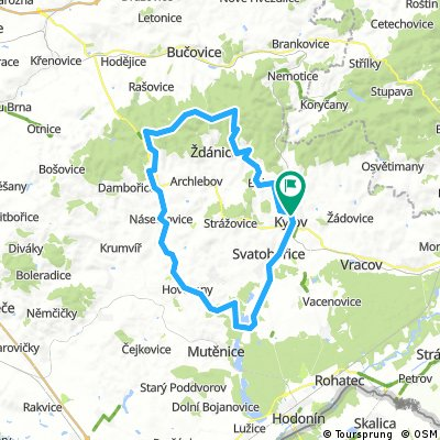 Kyjov - Ždánický les - Mutěnice a zpět