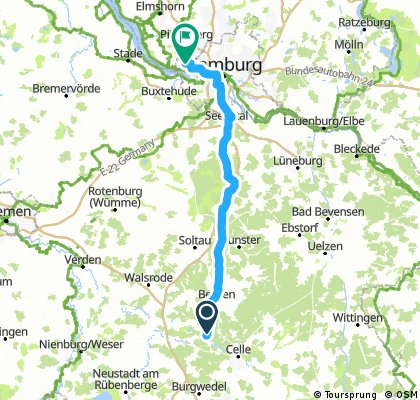 Lange Radrunde von Winsen (Aller) nach Hamburg