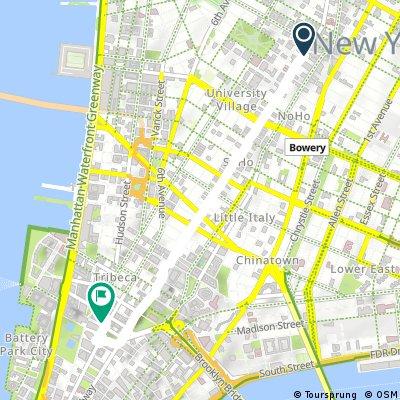Short ride through New York