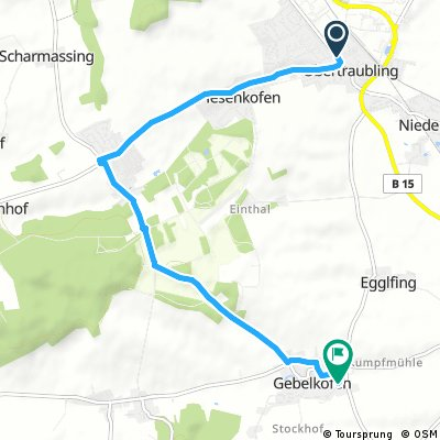 Quick bike tour through Obertraubling