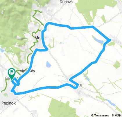 bike tour through Pezinok