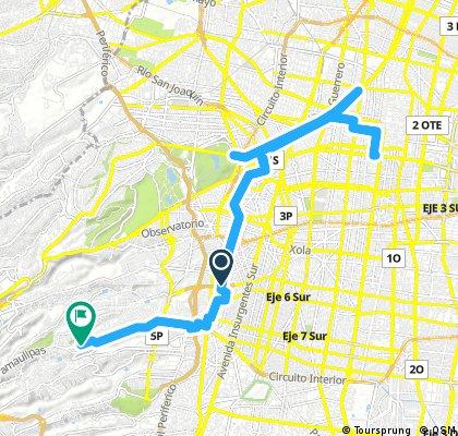 Lengthy ride through Ciudad de México