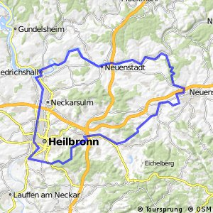 Cycling routes and bike maps in and around Heilbronn Bikemap
