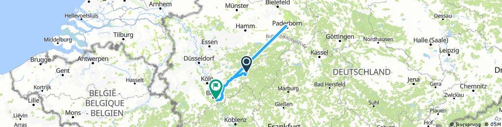 2. Etappe: Sondern (Biggesee) - Bonn