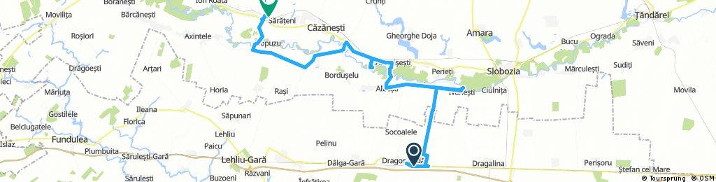 Dragos-Voda - Ivanesti - Buesti - Albesti - Andrasesti - Orboesti - Ciochina - Orezu - Crasanii de Jos - Balaciu