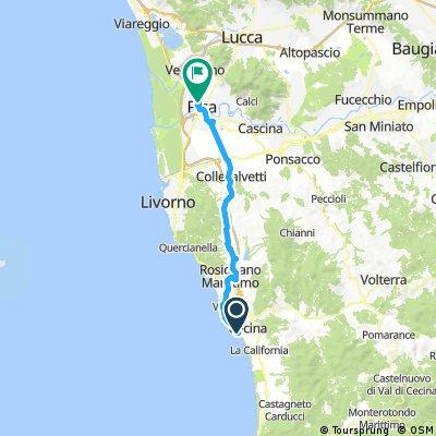 2017 - Ladispoli - Lucca - 3. Tag - Cecina Mare - Pisa