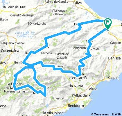 Golondrada per Alacant