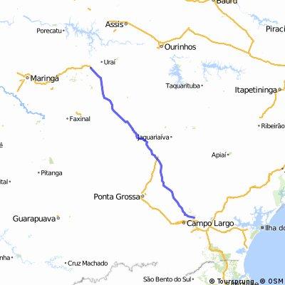 Caminho velho litoral até norte paranaense