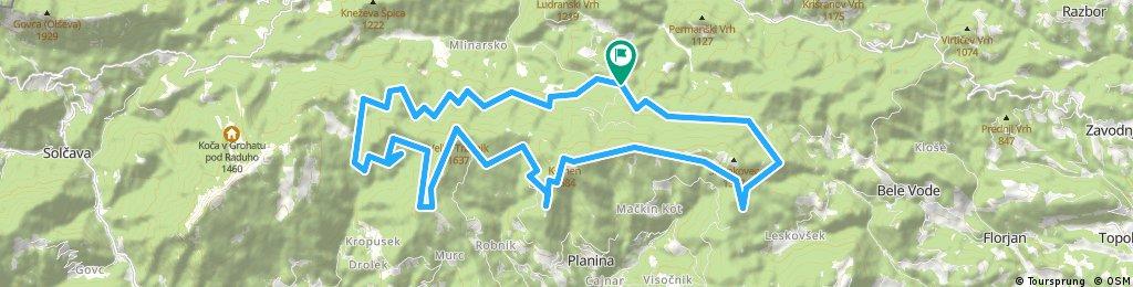 Pudgarsko-Bela Peč-Koča na Travniku-Komen-Pudgarsko