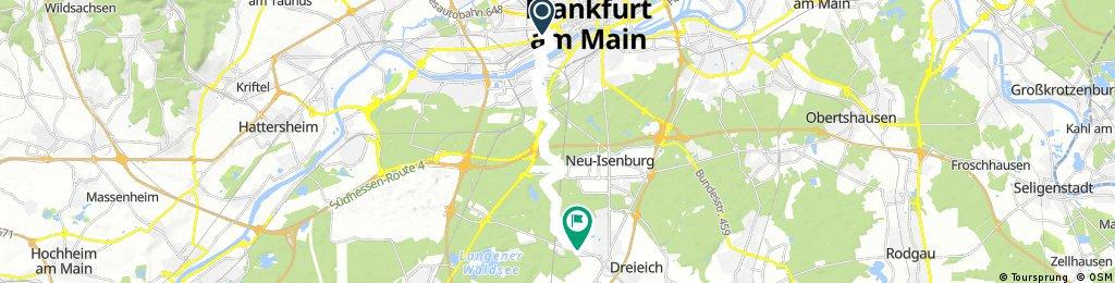 Ausfahrt von Frankfurt am Main nach Dreieich