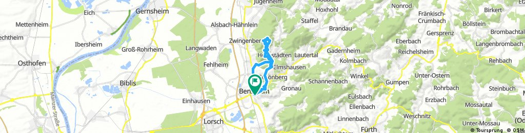 Ausfahrt durch Bensheim