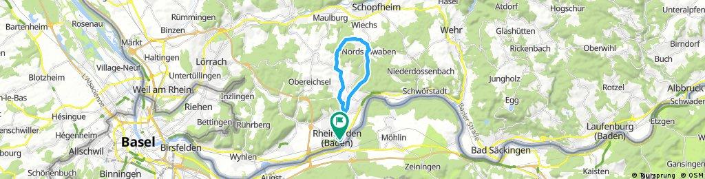 Radrunde durch Rheinfelden (Baden)