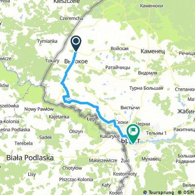 Высоко-Литовск  - Ставы - Брест