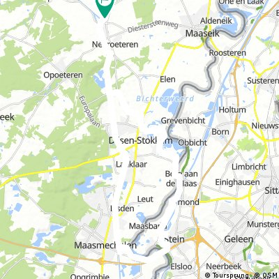 Neeroeteren-Eisden-Stein-Stokkem-Neeroeteren 45 km