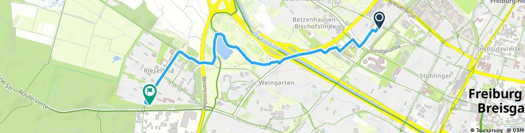 Short bike tour through Freiburg