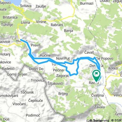 Ravno railroad to Hutovo and back through valley of Popovo polje