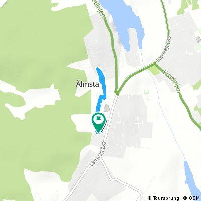 Brief ride through Älmsta