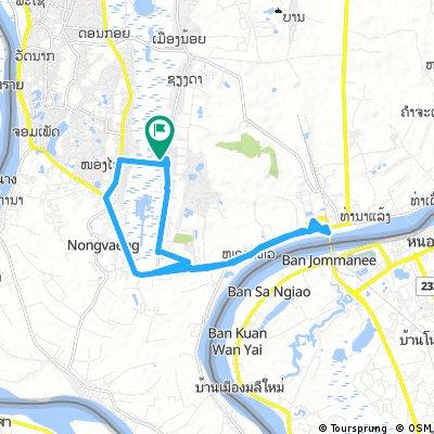bike tour through Dongkhamxang