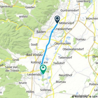 Radrunde von Traiskirchen nach Schönau an der Triesting