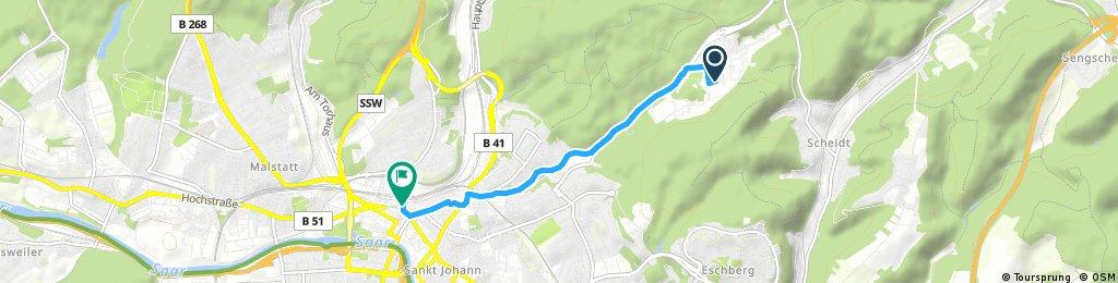 Kurze Radrunde durch Saarbrücken