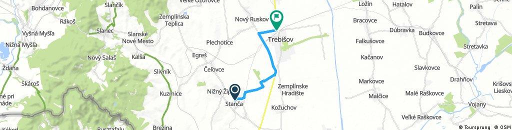 bike tour from District of Trebišov to Trebišov