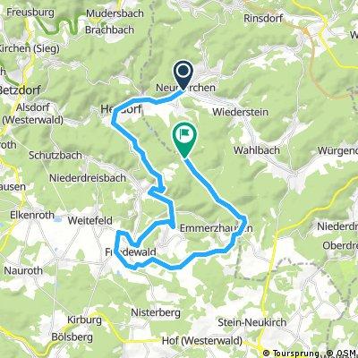 Lange Radrunde durch Neunkirchen