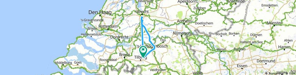Lengthy bike tour through Berkel-Enschot