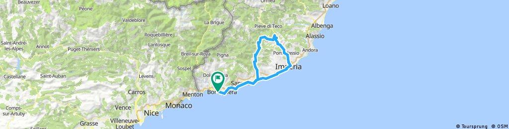 Long ride through Vallecrosia
