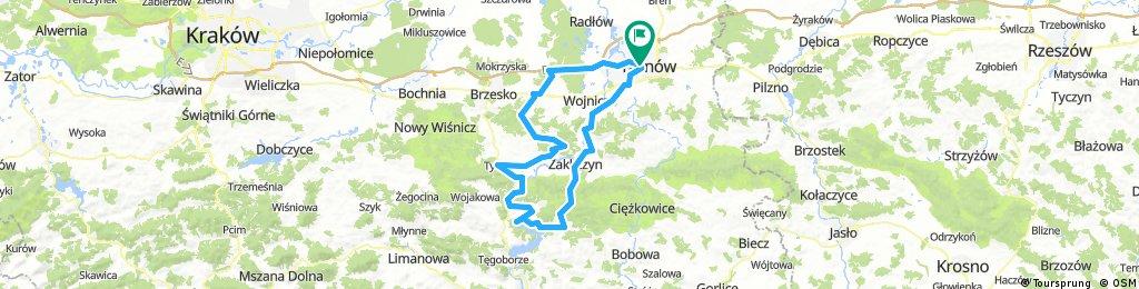 Palesnica-Podole-Czchow-Tymowa-Domoslawice-Charzewice