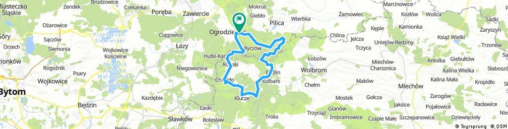 Orgrodzieniec, Smoleń, Bydlin, Pustynia 54km