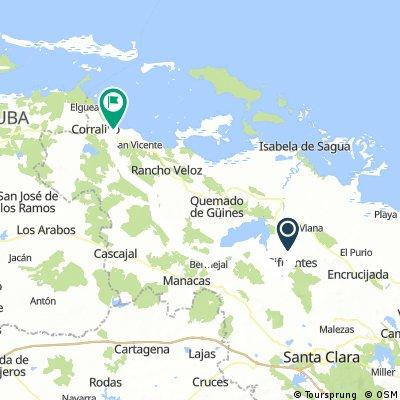 Cuba Etapa 10 Santa Clara - Playa Ganuza 86Km 180m