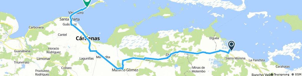 Cuba Etapa 11 Playa Ganuza - Varadero 113Km 50m