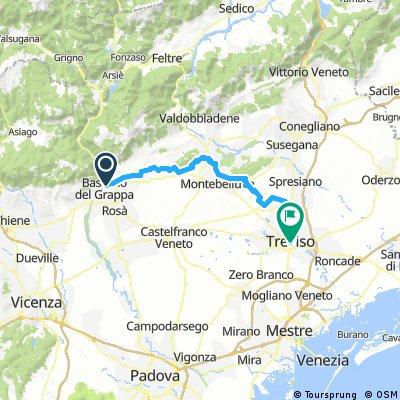 Bassano del Grappa nach Treviso