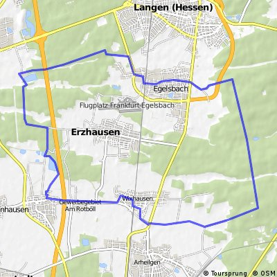 Nördlich Gräfenhausen mit Einkehr