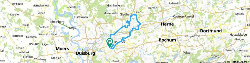 Lange Radrunde durch Mülheim an der Ruhr