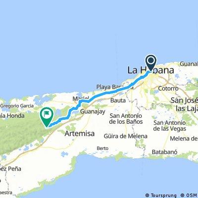 Cuba Etapa 1 Evitando Carreteras principales La Habana - Las terrazas 79 km 490 m