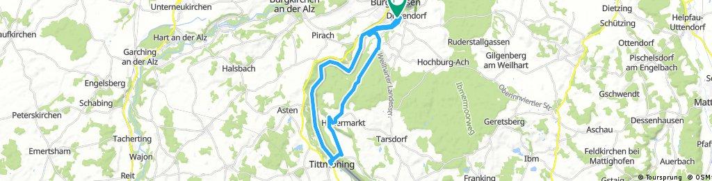 2.Burghausen - Tittmoning - Ettenauerstraße - Burghausen