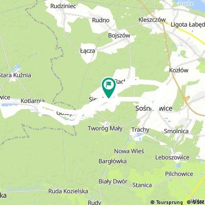 Long bike tour through Sierakowice
