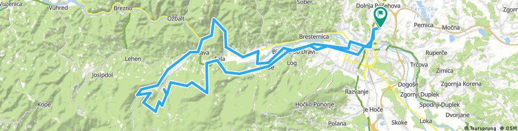 Košaki - Fala - Činžat - Bezjak - Ob Radonji - Lovrenc na Pohorju - Puščava - Selnica - Ruše - Maribor