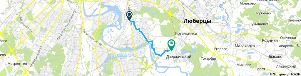bike tour from Москва to Дзержинский