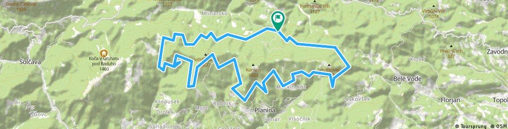 Pudgarsko-Dom na Smrekovcu-Koča na Travniku-Bela Peč-Pudgarsko