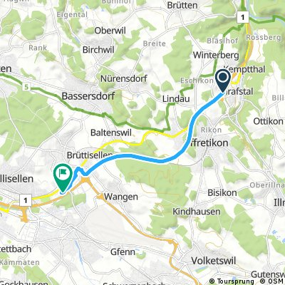Schnelle Radrunde von Kemptthal nach Dietlikon
