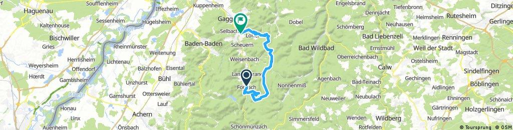 Forbach - Hohloh - Teufelsmühle - Gernsbach