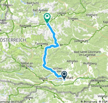 Klagenfurt - Turrach - Murau - Stein adE